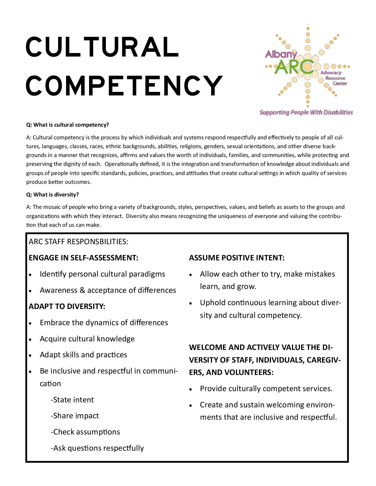 culture competence Cultural competence education for medical students what is cultural competence many definitions of cultural competence have.